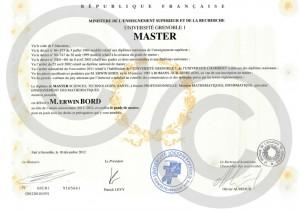 Mon Master (Juin 2012)